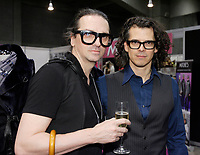 Montreal (QC) CANADA, may 3 2010- Denis Gagnon, designer (L), Christian Pronovost, DJ (R)