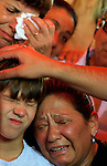 Israeli relatives of Aryeh and Tiran Taamam cry during their funeral, in Akko, northern Israel, Sunday, Aug. 6, 2006. The two Taamam brothers were killed Thursday in a Hezbollah rocket attack. JINI/ANCHO GOSH/EPA