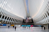 New York, New York<br /> March 7, 2016<br /> <br /> The World Trade Center Transportation Hub in Lower Manhattan replaces the PATH train station that was destroyed during the 9/11 terrorist attacks 12 years ago. <br /> <br /> Its centerpiece is the Oculus, a mind-boggling glass-and-steel structure designed by Spanish architect Santiago Calatrava. <br /> <br /> American hubris, ugly architecture.