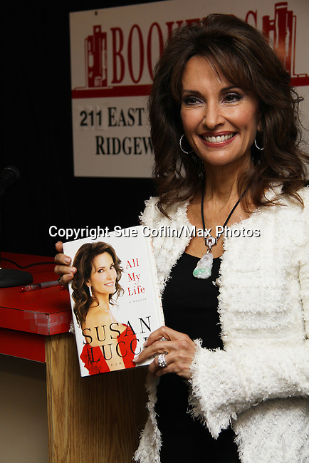 "All My Children Susan Lucci signs her new book ""All My Life"" - a memoir - on March 29, 2011 at Bookends, Ridgewood, New Jersey for her fans. She held a Q & A before signing. (Photo by Sue Coflin/Max Photos)"