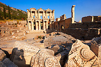 Photo & picture of The library of Celsus. Images of the Roman ruins of Ephasus, Turkey. Stock Picture & Photo art prints 4