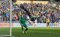 Hull City's George Long watches as Leeds United's Jack Harrison's shot comes back of the post<br /> <br /> Photographer Alex Dodd/CameraSport<br /> <br /> The EFL Sky Bet Championship - Hull City v Leeds United - Saturday 29th February 2020 - KCOM Stadium - Hull<br /> <br /> World Copyright © 2020 CameraSport. All rights reserved. 43 Linden Ave. Countesthorpe. Leicester. England. LE8 5PG - Tel: +44 (0) 116 277 4147 - admin@camerasport.com - www.camerasport.com