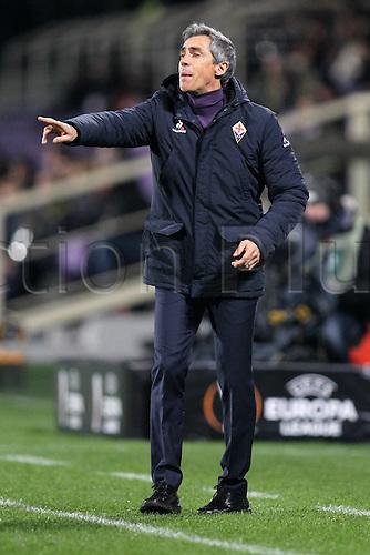 18.02.2016. Florence, Italy. UEFA Europa League football. Fiorentina versus Tottenham Hotspur.  Paulo Sousa Fiorentina