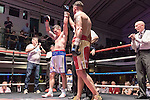 Jack Morris vs Kelvin Young Southern Area Title Light Heavyweight contest During Goodwin Boxing: Summer Fight Festival. Photo by: Simon Downing.<br /> <br /> Saturday 16th July 2016 - York Hall, Bethnal Green, London, United Kingdom.