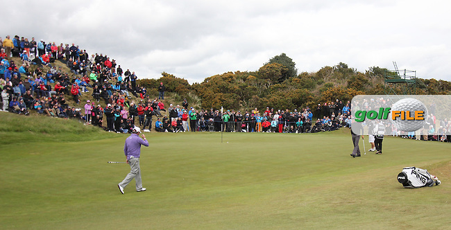 LEE WESTWOOD (ENG) on the 10th green during round 3 of the 2015 Dubai Duty Free Irish Open hosted by the Rory Foundation, Royal County Down Golf Club, Newcastle Co Down, Northern Ireland. 30/05/2015<br /> Picture TJ Caffrey, www.golffile.ie