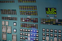 Displays and switches are seen in the operation center of the Paks nuclear power plant building in Paks, 120 km (75 miles) east of Budapest, Hungary on March 23, 2011. ATTILA VOLGYI