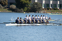 "REDWOOD SHORES, CA - April 29, 2017: Cal competes against Stanford in the ""Big Row."""