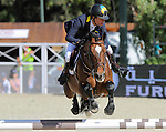 29.09.2013 Barcelona, Spain. Furusiyya FEI Nations Cup Final. Picture show  Cassio Rivetti (UKR) riding Vivant at Club de Polo