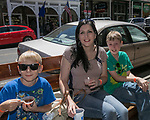 Leland, Nicole and Lucas from Stockton, CA during the Taste of the Comstock in Virginia City on Saturday, June 10, 2017.