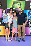 "Antonio Molero and his wife attends to the premiere of the film ""Inside Out ( Al Revés)"" at Callao Cinemas in Madrid, Spain. July 15, 2015.<br />  (ALTERPHOTOS/BorjaB.Hojas)"
