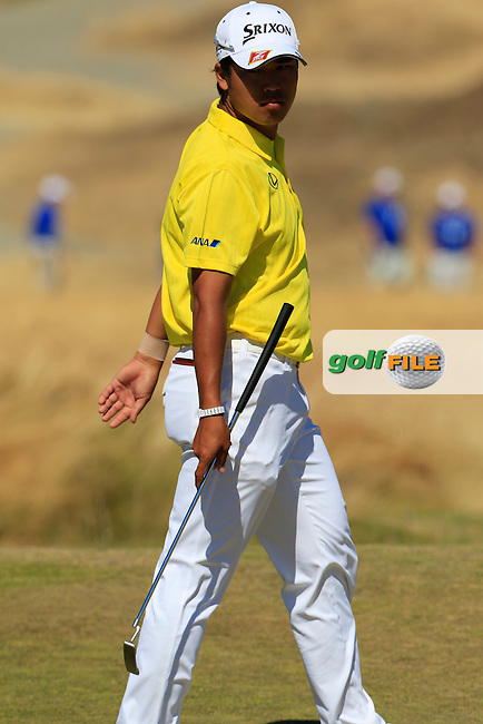 Hideki Matsuyana (JPN) on the 6th green during Friday's Round 2 of the 2015 U.S. Open 115th National Championship held at Chambers Bay, Seattle, Washington, USA. 6/19/2015.<br /> Picture: Golffile | Eoin Clarke<br /> <br /> <br /> <br /> <br /> All photo usage must carry mandatory copyright credit (&copy; Golffile | Eoin Clarke)