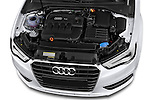 High angle engine detail of a 2013 - 2014 Audi A3 Ambition 3-Door Hatchback.