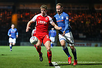 Jack Sowerby of Fleetwood Town and Matthew Done of Rochdale during the Sky Bet League 1 match between Rochdale and Fleetwood Town at Spotland Stadium, Rochdale, England on 20 March 2018. Photo by Thomas Gadd.