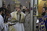 Israel, Greek Orthodox Patriarch Theophilus III on St. George's Day at the Greek Orthodox Church of St. George in Acco