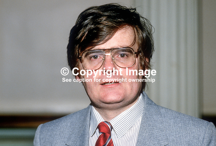 George Seawright, Scottish born Ulster Loyalist politician, N Ireland, 19860115GS..Copyright Image from Victor Patterson, 54 Dorchester Park, Belfast, United Kingdom, UK...For my Terms and Conditions of Use go to http://www.victorpatterson.com/Victor_Patterson/Terms_%26_Conditions.html