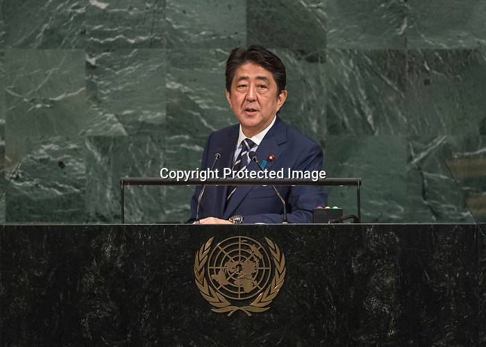 72 General Debate – 20 September <br /> <br /> <br /> His Excellency Shinzo Abe, Prime Minister of Japan