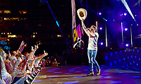 09 June 2018 - Nashville, Tennessee - Dustin Lynch. 2018 CMA Music Fest Nightly Concert held at Nissan Stadium.  <br /> CAP/ADM/LF<br /> &copy;LF/ADM/Capital Pictures