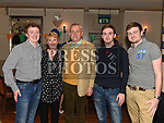 Jack Gogarty celebrating his 60th birthday with his wife Anne and sons Peter, Kevin and Ciaranin the Thatch. Photo:Colin Bell/pressphotos.ie