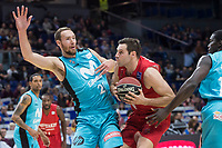 Movistar Estudiantes Alex Brown and Montakit Fuenlabrada Ian O'Leary during Liga Endesa match between Movistar Estudiantes and Montakit Fuenlabrada at Wizink Center in Madrid, Spain. November 12, 2017. (ALTERPHOTOS/Borja B.Hojas) /NortePhoto.com