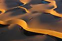 Namibia;  Namib Desert, small lakes between sand dunes next to Kuisib Rivert, aerial view