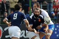 Chabal e Parra (Francia) Parisse (Italia)<br /> Italia vs Francia - Italy Vs France<br /> RBS 6 Nations Rugby Championship 2011<br /> Stadio Flaminio;<br /> Roma, 12/03/2011<br /> Photo Antonietta Baldassarre Insidefoto