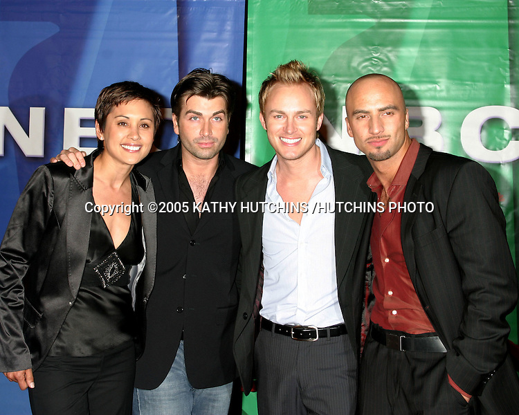 "©2005 KATHY HUTCHINS /HUTCHINS PHOTO.NBC/ UNIVERSAL TELEVISION CRITICS ASSOC.PARTY.UNIVERSAL CITY, CA.JANUARY 21, 2005.""QUEER EYE FOR THE STRAIGHT GAL"" CAST.DAMON PEASE.ROBBIE LAUGHLIN.HONEY LABRADOR.DANNY TEESON"