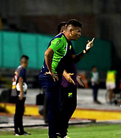 NEIVA-COLOMBIA, 10-02-2019: Dayron Pérez, técnico de Atlético Huila, durante partido entre Atlético Huila y Atlético Nacional, de la fecha 4 por la Liga Aguila, I 2019 en el estadio Guillermo Plazas Alcid de Neiva. / Dayron Perez, coach of Atletico Huila, during a match between Atletico Huila and Atletico Nacional of the 4th date for the Liga Aguila I 2019 at the Guillermo Plazas Alcid Stadium in Neiva city. Photo: VizzorImage  / Sergio Reyes / Cont.