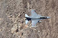 Royal Danish Air Force F-16 in flight over California's Mojave Desert.