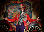 Ringling Bros. and Barnum & Bailey's Circus Ringmaster Johnathan Lee Iverson, poses before the show at the Prudential Center in Newark, New Jersey.