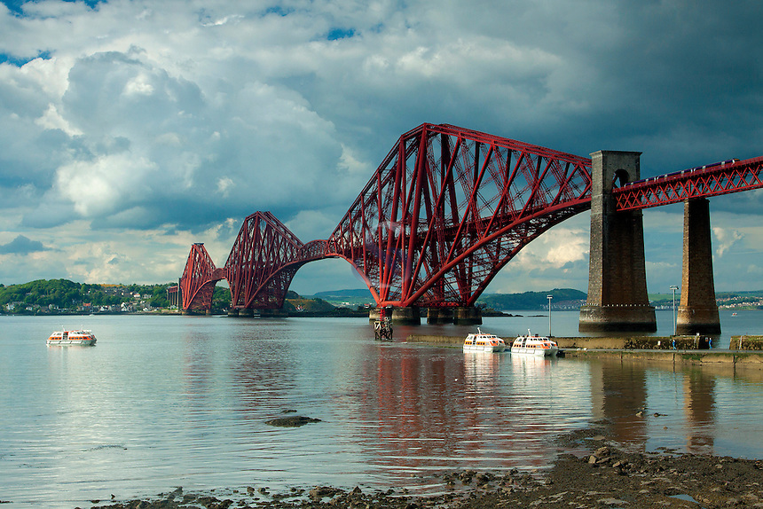 The Forth Rail Bridge from Queensferry, Lothian