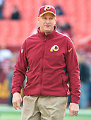 Washington Redskins defensive coordinator Jim Haslett on the field prior to the game against the Dallas Cowboys at FedEx Field in Landover, Maryland on Sunday, December 28, 2014.  <br /> Credit: Ron Sachs / CNP