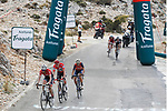 Alberto Contador (ESP) Trek-Segafredo, race leader Chris Froome Team Sky and Vincenzo Nibali (ITA) Bahrain-Merida with 1km to go on the final climb during Stage 14 of the 2017 La Vuelta, running 175km from &Eacute;cija to Sierra de La Pandera, Spain. 2nd September 2017.<br /> Picture: Unipublic/&copy;photogomezsport | Cyclefile<br /> <br /> <br /> All photos usage must carry mandatory copyright credit (&copy; Cyclefile | Unipublic/&copy;photogomezsport)