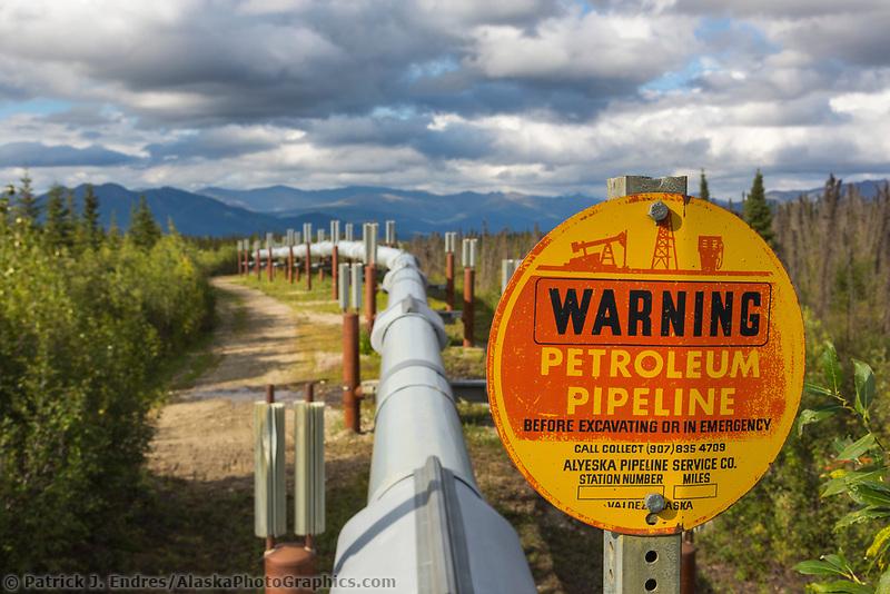 Pipeline traverses the tundra of Arctic Alaska.