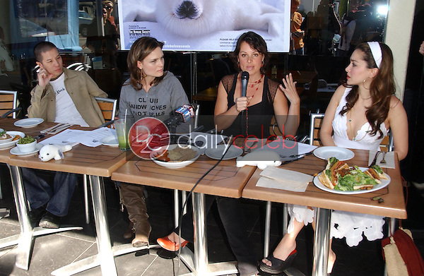 Reggie Lee and Emily Deschanel with Darcy Halsey and Gina Phillips<br />at the Los Angeles event for &quot;Save The Seals&quot;. Real Food Daily, West Los Angeles, CA. 03-28-07<br />Dave Edwards/DailyCeleb.com 818-249-4998