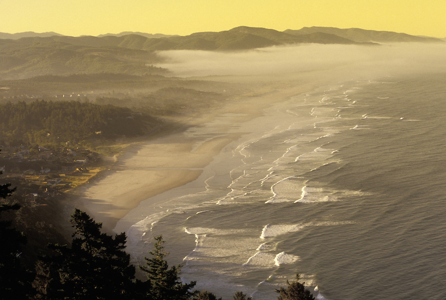 Sunrise over Nehalem Bay from Cape Falcon, Oregon