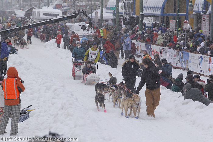 Pat Moon March 3, 2012 Ceremonial Start of Iditarod 2012 in Anchorage, Alaska.