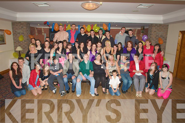 CELEBRATIONS: Celebration were in full swing in Darby's Gill, Hotel, Killarney as Tasha Lyne, Ross Road,Killarney, celebrated her 21st Birthday with her family and friends...