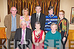 The Killorglin INTO organisation honoured the teachers that retired in their area in the Beaufort Bar last Friday night front row l-r: Bertie O'Connor retired as principal of Cullina NS, Beaufort, Maria Murphy retired from St Francis Special School and Vincent Moriarty retired from Scoil Mhuire, Killorglin. Back row: Seamus Shaungnessy Secretary, Moira Cronin Cullina NS Principal, Liam Twomey Principal of St Francis Special School Beaufort and Bernie Costello, Killorglin INTO Chairperson..