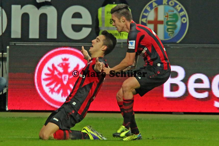 Torjubel Joselu (Eintracht) beim 3:2 - Eintracht Frankfurt vs. FC Schalke 04, Commerzbank Arena