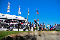 Dustin Johnson (USA) watches his tee shot on 7 during round 5 of the World Golf Championships, Dell Technologies Match Play, Austin Country Club, Austin, Texas, USA. 3/25/2017.<br /> Picture: Golffile | Ken Murray<br /> <br /> <br /> All photo usage must carry mandatory copyright credit (&copy; Golffile | Ken Murray)