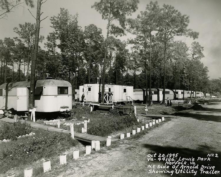 1945 October 20..Historical..VA 44186 Lewis Park.Northeast side of Arnold Drive showing Utility Trailer...NEG#.NRHA#..
