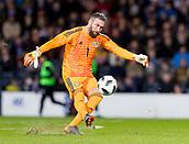 23rd March 2018, Hampden Park, Glasgow, Scotland; International Football Friendly, Scotland versus Costa Rica; Allan McGregor of Scotland in action
