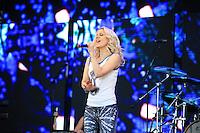 SÃO PAULO, SP, 26.06.2015 - FESTIVAL-SP - A cantora Paula Toller durante o Nivea Viva Rock Brasil na Praça Heróis da FEB, região norte de São Paulo, neste domingo, 26. (Foto: Yuri Alexandre/Brazil Photo Press)