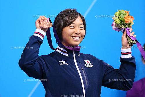Satomi Suzuki (JPN), .JULY 30, 2012 - Swimming : .Women's 100m Breaststroke Medal Ceremony .at Olympic Park - Aquatics Centre .during the London 2012 Olympic Games in London, UK. .(Photo by YUTAKA/AFLO SPORT)
