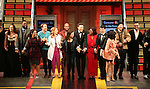 Gerianne Perez, James Snyder, Erin Mackay, Chesney Snow, Margot Seibert, Justin Guarini, Moya Angela, Telly Leung, Mariand Torres, David Abeles and cast  during the Broadway Opening Night Performance Curtain Call for 'In Transit' at Circle in the Square Theatre on December 11, 2016 in New York City.