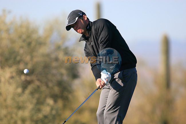 Paul Casey in action during Day 2 of the Accenture Match Play Championship from The Ritz-Carlton Golf Club, Dove Mountain. (Photo Eoin Clarke/Golffile 2011)