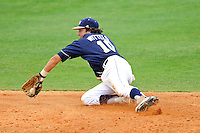 17 April 2010:  FIU's Garrett Wittels (10) dives to field a line drive up the middle in the sixth inning as the FIU Golden Panthers defeated the University of New Orleans Privateers, 6-4, at University Park Stadium in Miami, Florida.
