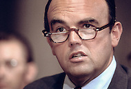 Assistant to the President for Domestic Affairs John Ehrlichman testifies at Watergate Hearings July 1973 - A break in at the Democratic National Committee headquarters at the Watergate complex on June 17, 1972 results in one of the biggest political scandals the US government has ever seen.  Effects of the scandal ultimately led to the resignation of  President Richard Nixon, on August 9, 1974, the first and only resignation of any U.S. President.