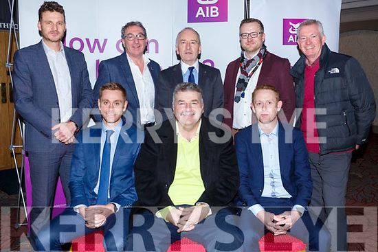 Attending the launch of the AIB Tralee, in association with Tralee Chamber Alliance, a Health &amp; Wellbeing seminar in the Abbey Hotel on Thursday evening last. Seated l-r, Joe O&rsquo;Connor (Nisus Fitness), Sean Healy (Head of AIB Kerry) and Colm Cooper.<br /> Standing l-r, Tomas Griffin (AIB), Joe Shannon (AIB), Aiden Kelly (President of the Tralee Chamber Alliance), Ken Tobin (Tralee Chamber Alliance) and Kieran Rutledge (Tralee Chamber Alliance).