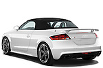 Rear three quarter view of a 2010 - 2014 Audi TT RS Convertible.
